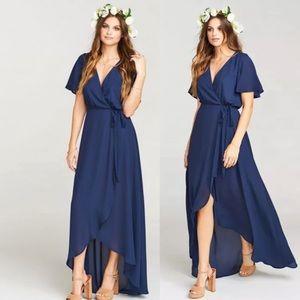 Sophia Wrap Dress ~ Rich Navy Crisp